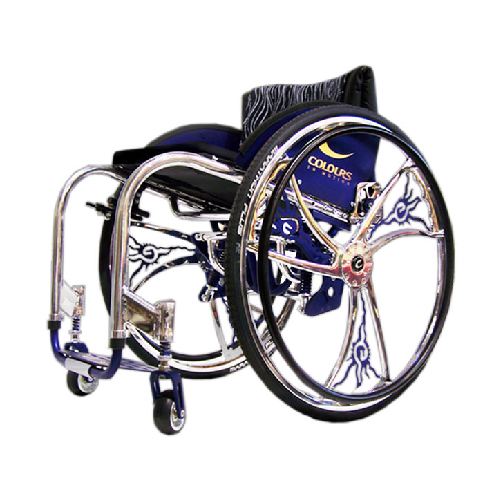 Colours Shock blade lightweight manual wheelchair