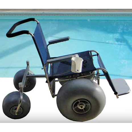 De-bug Interchangeable pool and beach wheelchair