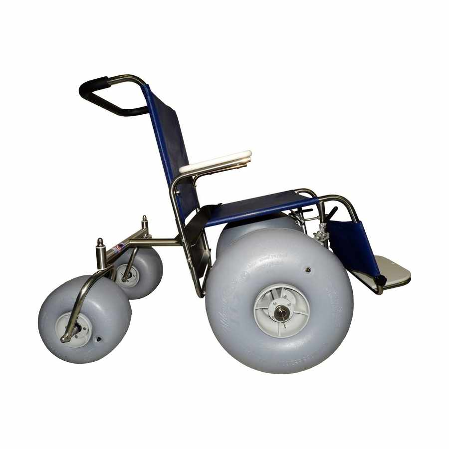 De-bug Stainless steel beach wheelchair