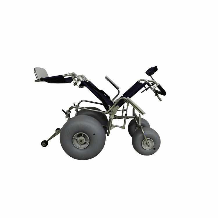 Stainless steel beach wheelchair