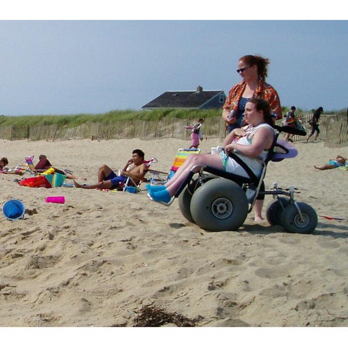 Stainless steel all terrain beach wheelchair