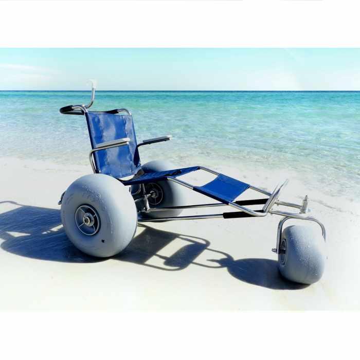 De-bug EZ roller stainless steel beach wheelchair