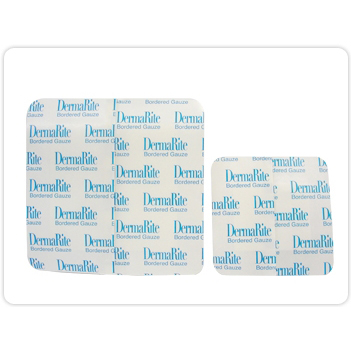 Dermarite Gauze Wound Dressing with Adhesive Border, 4 Inch x 4 Inch