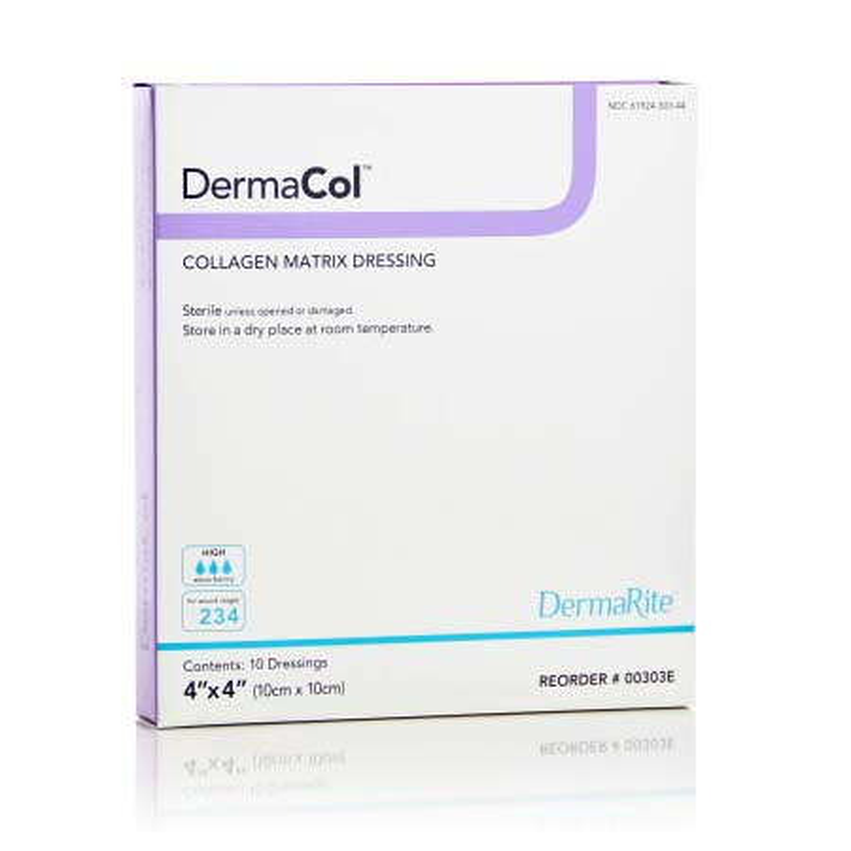 """DermaCol Collagen Matrix Wound Dressing, 2"""" x 2"""""""