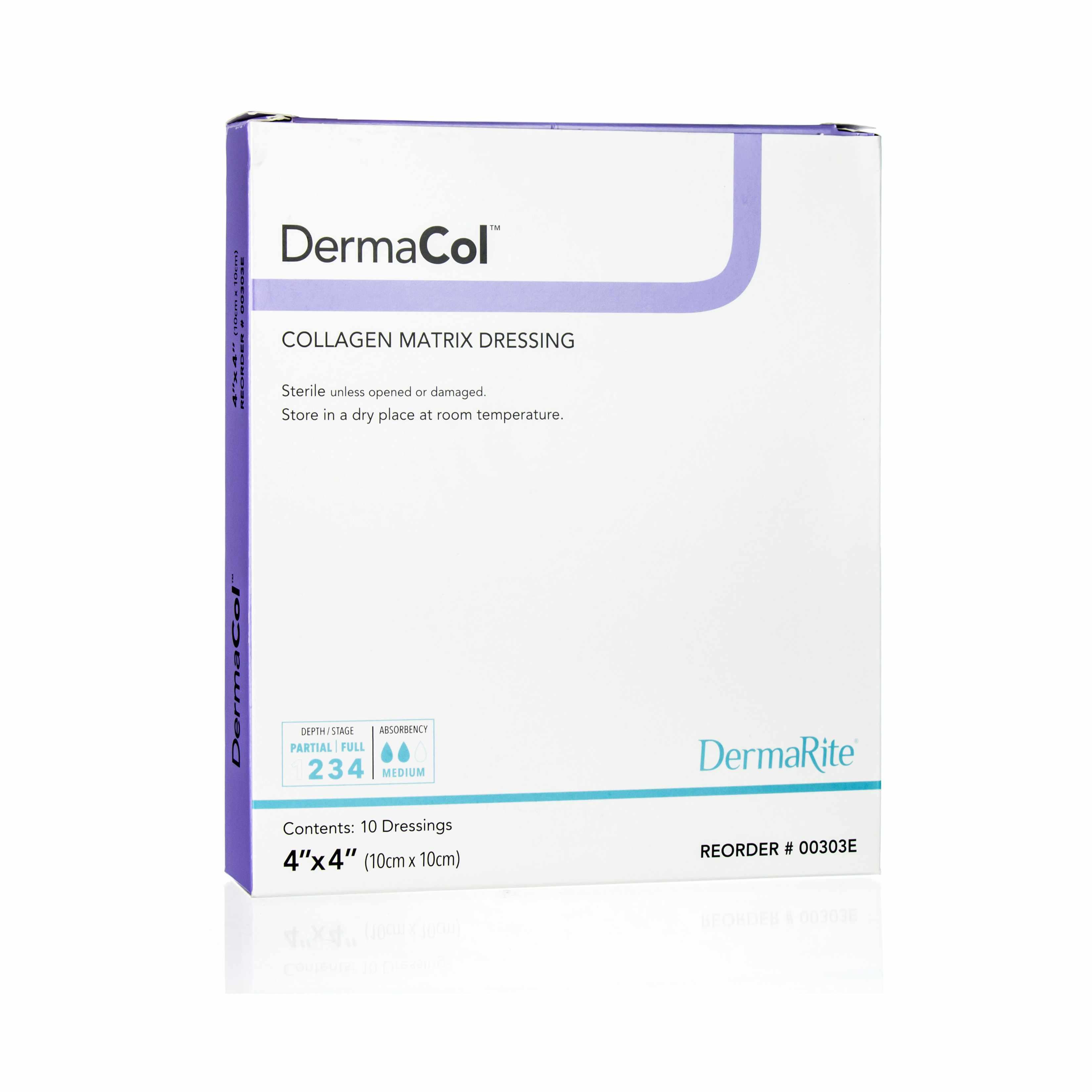 """DermaCol Collagen Matrix Wound Dressing, 4"""" x 4"""""""