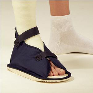 Deroyal Open Toe Cast Boot with Hook and Loop Closure, Canvas