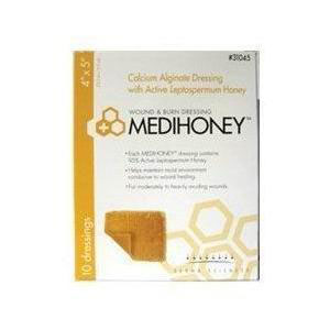 "Derma sciences medihoney calcium alginate dressing 4"" x 5"""