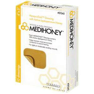 Medihoney hydrocolloid dressing without border, 2 x 2 Inch