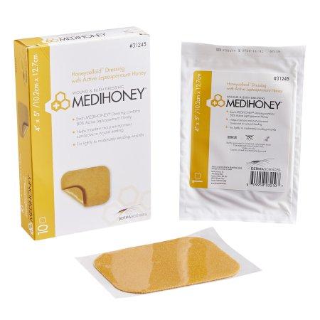 Medihoney hydrocolloid dressing without border 4 x 5 Inch
