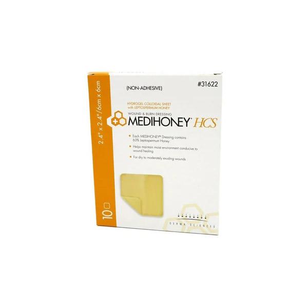 Medihoney Hydrogel Dressing, 2.4 X 2.4 Inch, Sterile