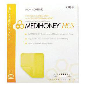 Medihoney HCS Wound Dressing, 4-1/2 X 4-1/2 Inch