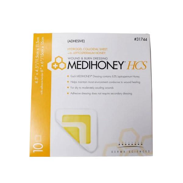 Medihoney HCS Wound Dressing, 4-1/2 X 4-1/2 Inch