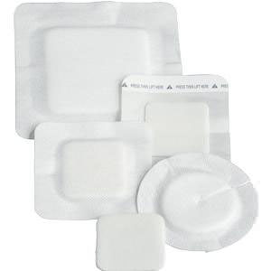 """Polyderm Hydrophilic Foam Wound Dressing, 4"""" Dia Border, 2 1/2"""" Dia Pad with 2"""" Radial Slit"""