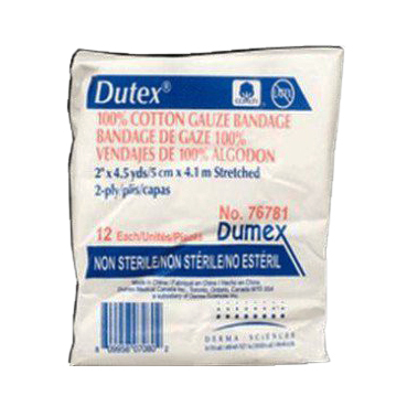 """Dutex 2-Ply Conforming Bandage, Latex-Free, Non-Sterile, 2"""" x 4.1 yards"""