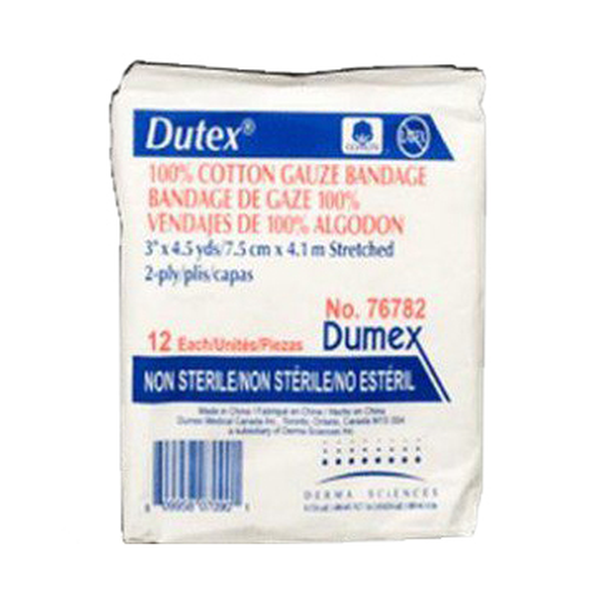 "Dutex Conforming Bandage 2-Ply, 3"" x 4-1/10 yards"