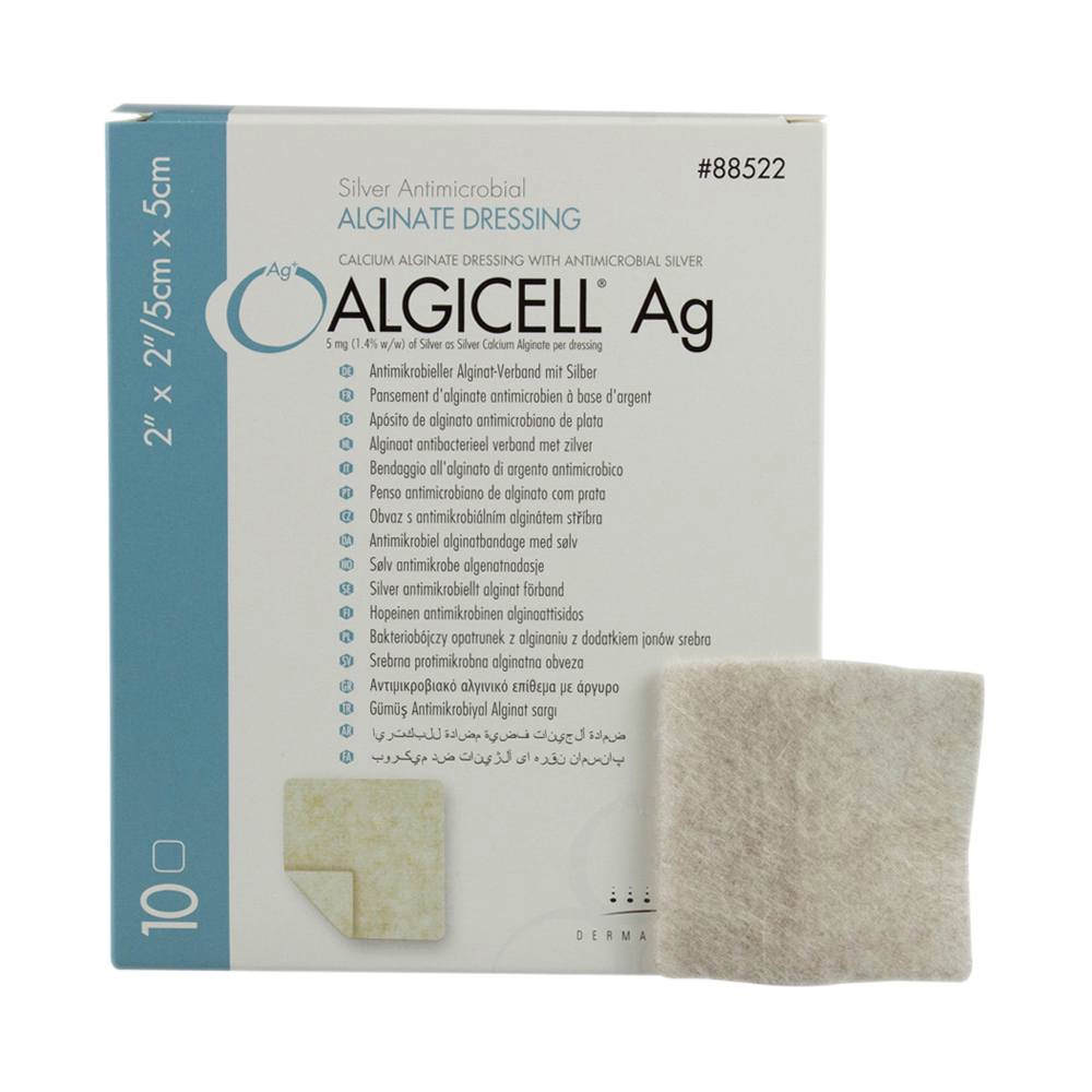 Algicell Calcium Alginate Dressing, White