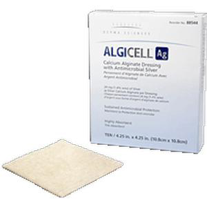 """Derma sciences algicell Ag antimicrobial silver dressing 4"""" x 5"""""""