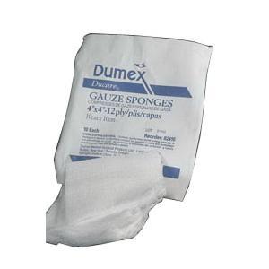 """Ducare Woven Gauze Sponge, 12-Ply, 3"""" x 3"""""""