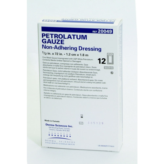 Petrolatum Impregnated Dressing, 1/2 x 72 Inch