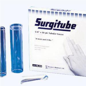 """Derma Sciences Surgitube Tubular Gauze Bandage,Small Fingers, Toes Size1, 5/8"""" x 50 yard White"""