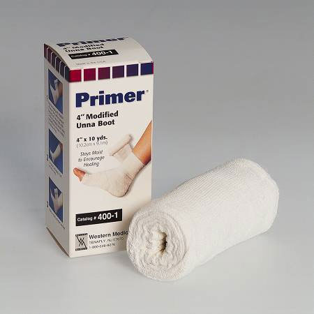 "Primer Modified Unna Boot Compression Bandage with Calamine, 4"" x 10 yards"
