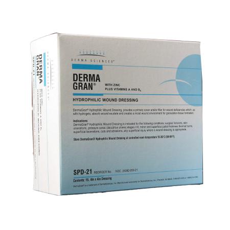 """Dermagran-B; Hydrophilic Impregnated Gauze Wound Dressing, 4"""" x 4"""""""