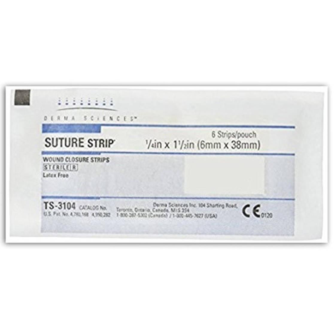 "Derma sciences shur strips wound closure strip 1/4"" x 1-1/2"""