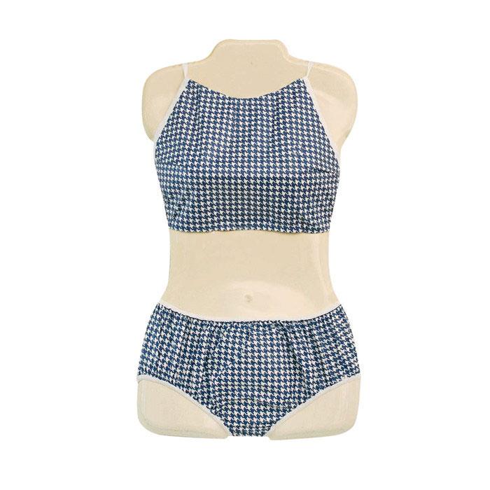 Dipsters Girl's Bibb-top Bikini Patient Wear