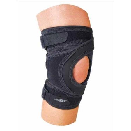"Tru-Pull Lite Strap Closure Knee Brace Large 21"" to 23-1/2"" Circumference Left Knee"
