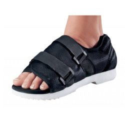 Procare Male Cast Shoe, Hook and Loop Closure, x-Large, Black