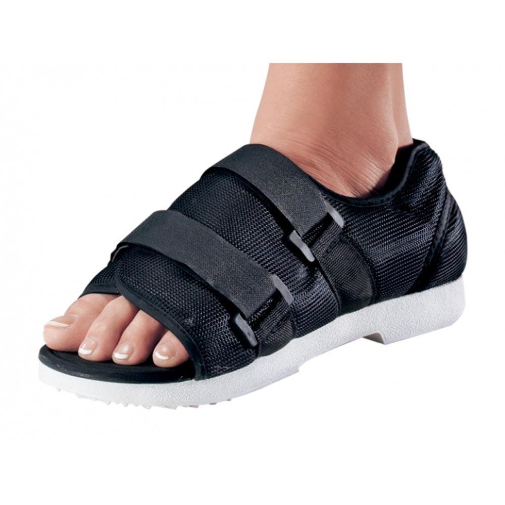 ProCare Cast Shoe, Hook and Loop Closure, Unisex, Female 6 to 8, Black, Medium