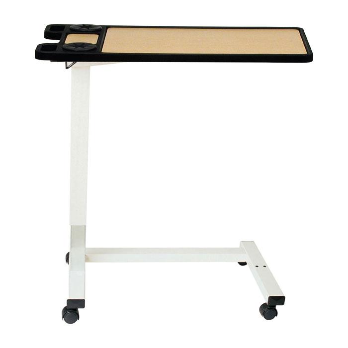 Drive Non-Tilt Pneumatic Cylinder Overbed Table With U Base Frame