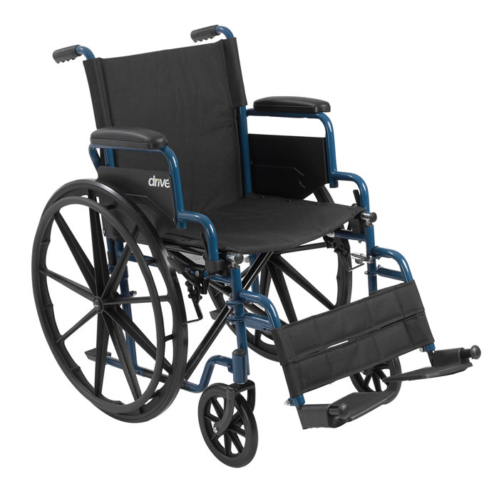 Drive Medical Blue Streak single axle manual wheelchair