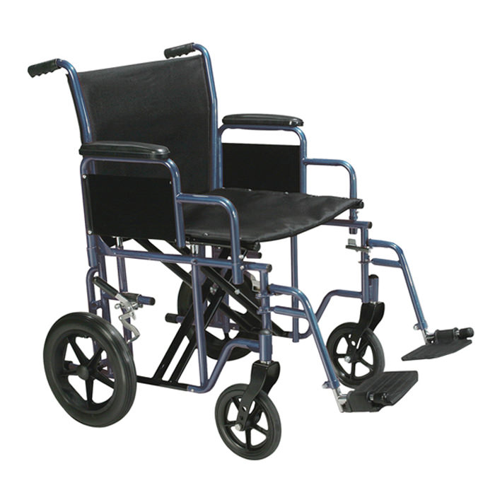 Drive bariatric steel transport wheelchair