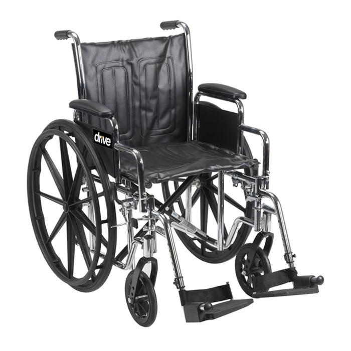 Drive Medical chrome sport dual axle manual wheelchair