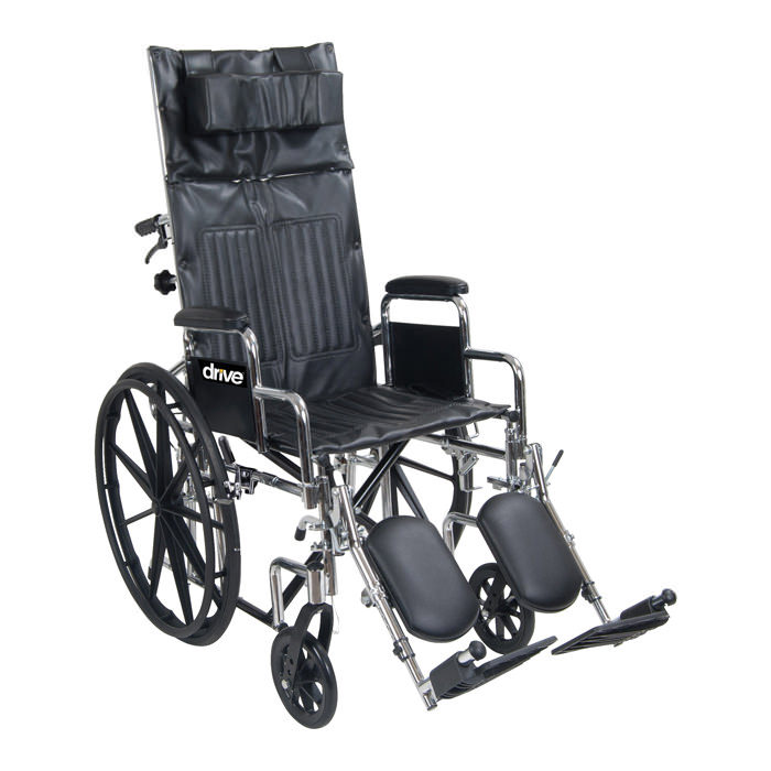 Drive Medical chrome sport full-reclining wheelchair