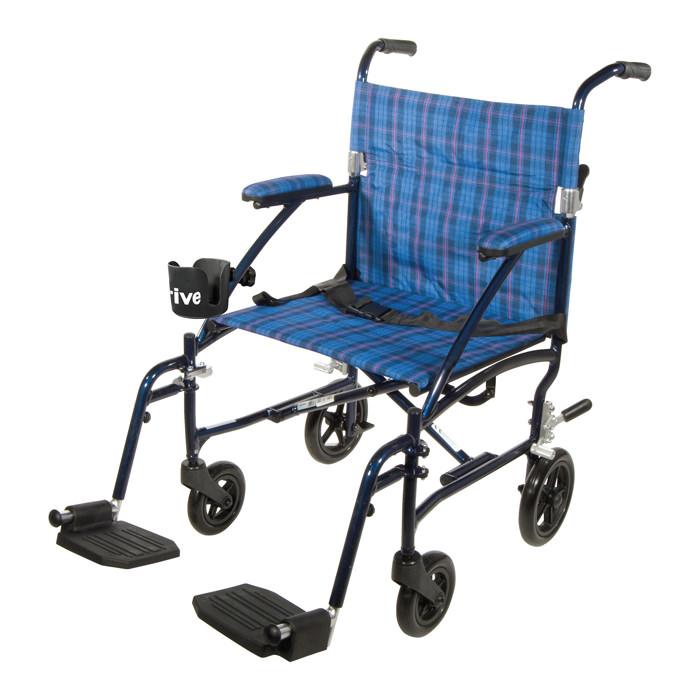 Drive Fly-Lite aluminum transport wheelchair