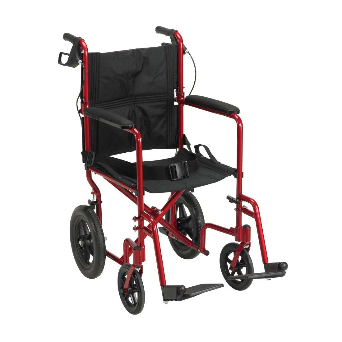 Drive Medical lightweight expedition aluminum transport wheelchair