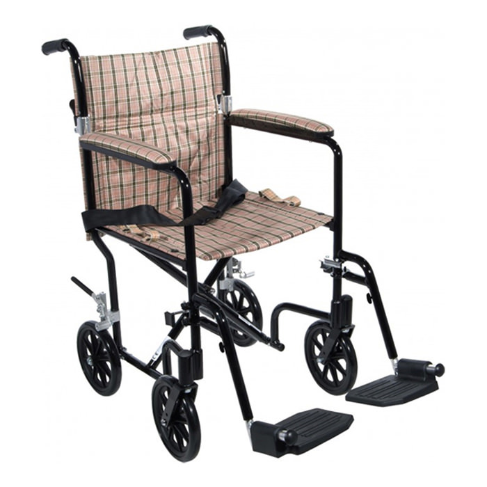 Drive Medical Deluxe fly-weight aluminum transport wheelchair