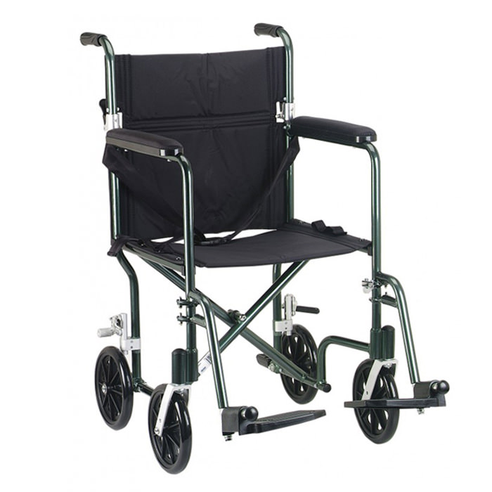 Drive Medical Deluxe fly-weight transport wheelchair