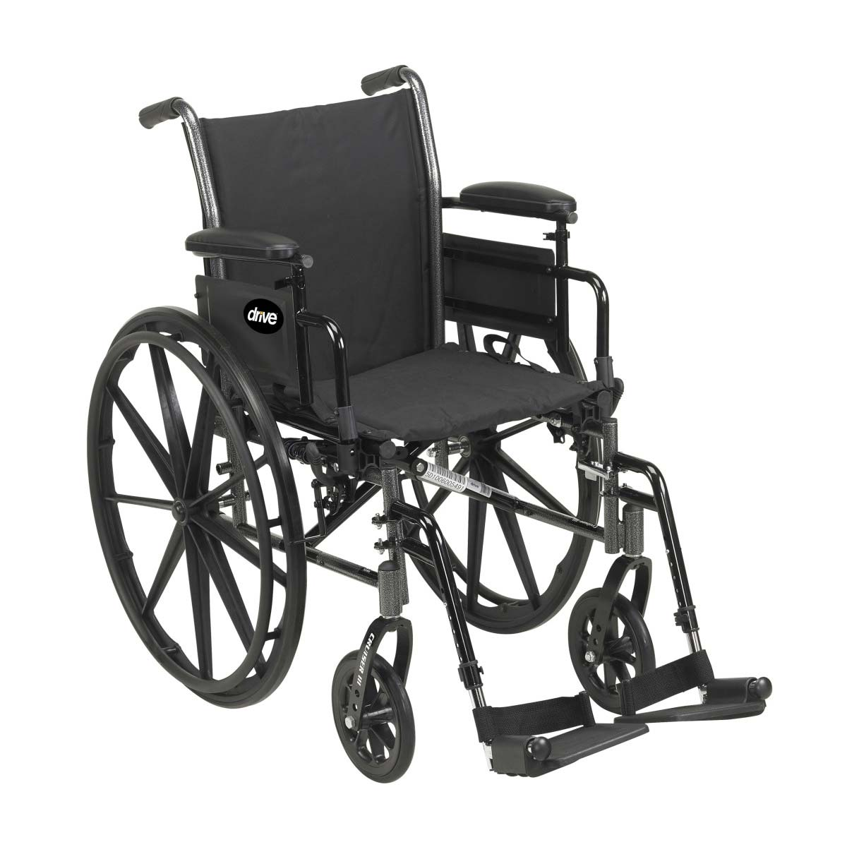 Drive Medical cruiser III lightweight dual axle wheelchair