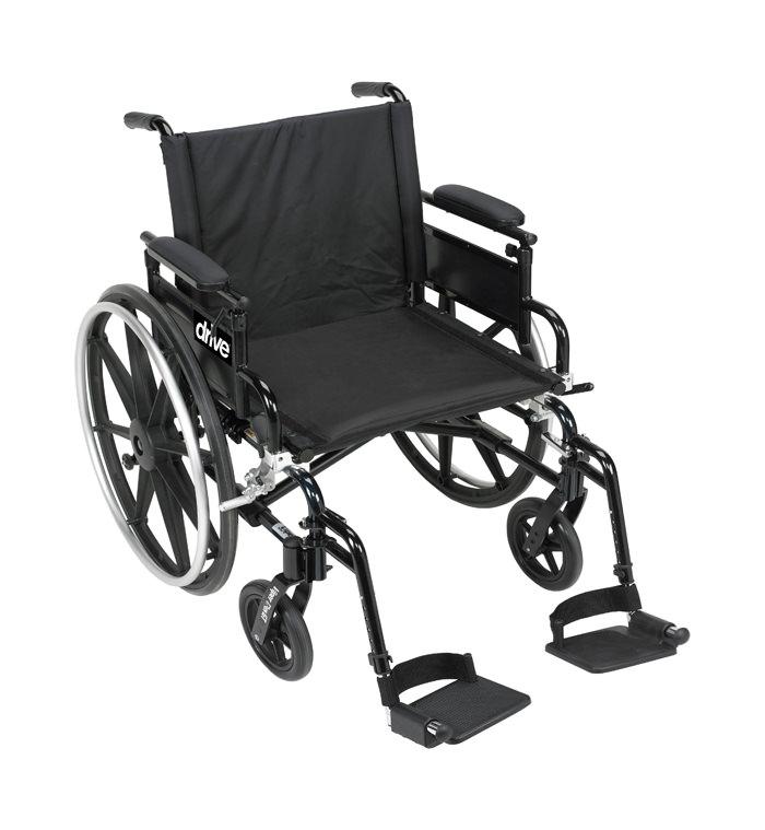 Drive Medical viper plus GT aluminum lightweight dual axle wheelchair