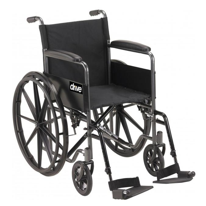 Drive Medical silver sport 1 single axle manual wheelchair
