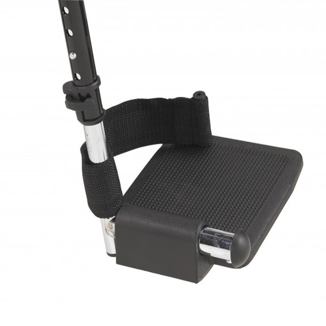 Drive silver sport wheelchair - Plastic footplate