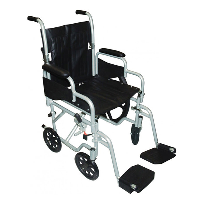 Drive Medical Poly-Fly high strength light weight transport wheelchair