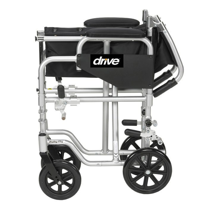 Drive Poly-Fly high strength light weight transport wheelchair