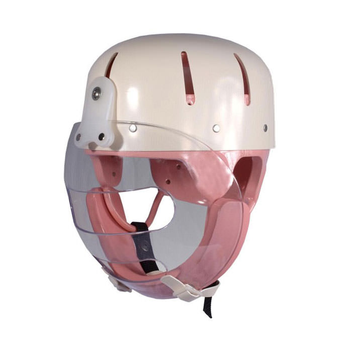 Danmar hard shell helmet with faceguard