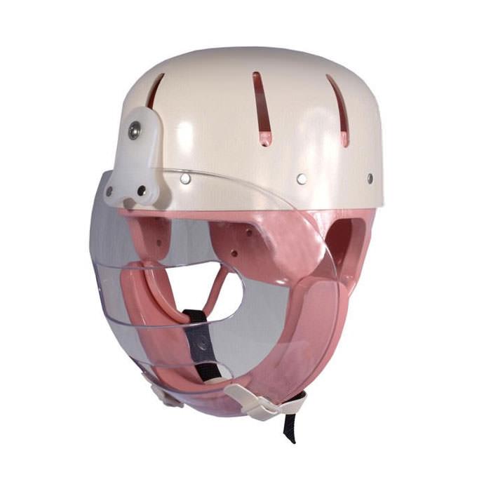 Danmar hard shell helmet with faceguard