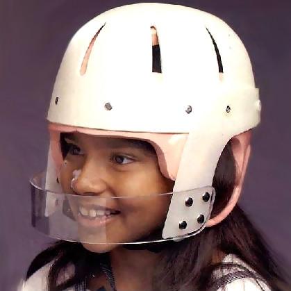 Hard shell helmet with face bar