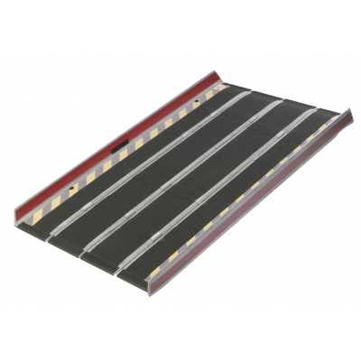 DecPac Fiberglass Portable Folding Ramp With Edge Barrier